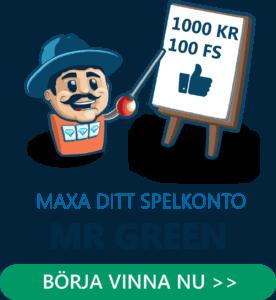 Maxa ditt spelkonto hos Mr Green