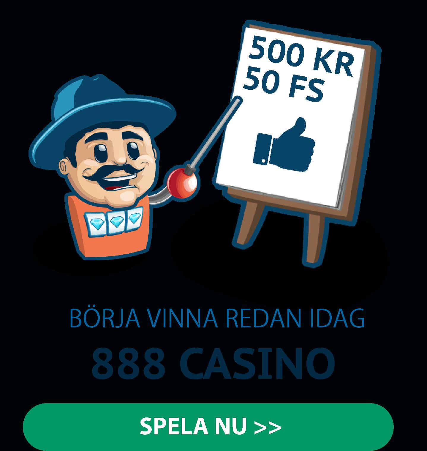 Börja spela hos 888 Casino idag!