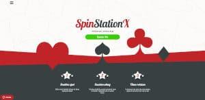 Spela hos Spin Station X med snabba uttag!